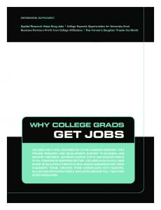 WHY COLLEGE GRADS GET JOBS