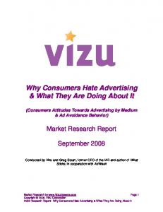 Why Consumers Hate Advertising & What They Are Doing About It