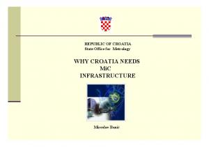 WHY CROATIA NEEDS MiC INFRASTRUCTURE