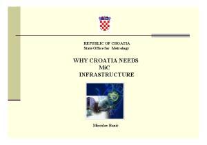 WHY CROATIA NEEDS MiC INFRASTRUCTURE