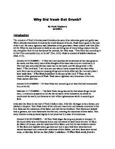 Why Did Noah Get Drunk?