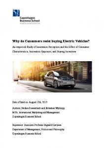 Why do Consumers resist buying Electric Vehicles?