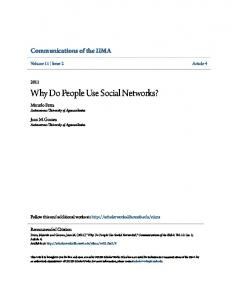 Why Do People Use Social Networks?