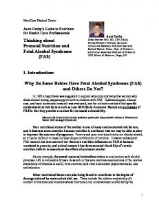Why Do Some Babies Have Fetal Alcohol Syndrome (FAS) and Others Do Not?