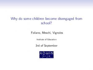 Why do some children become disengaged from school?