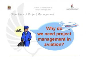 Why do we need project management in aviation?