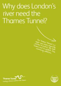 Why does London s river need the Thames Tunnel?