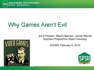Why Games Aren t Evil