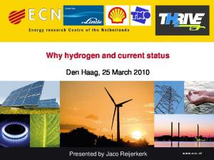 Why hydrogen and current status