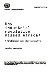 Why industrial revolution missed Africa: