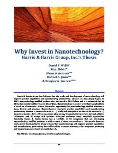 Why Invest in Nanotechnology?