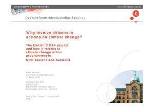 Why involve citizens in actions on climate change?