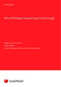 Why IP5 Patent Searching is not Enough