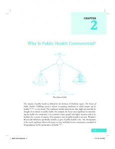 Why Is Public Health Controversial?