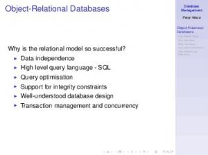 Why is the relational model so successful? Data independence