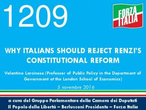 WHY ITALIANS SHOULD REJECT RENZI S CONSTITUTIONAL REFORM