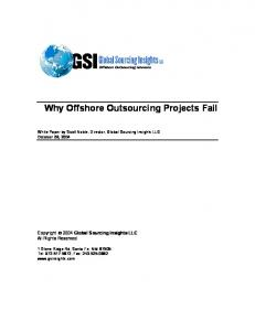 Why Offshore Outsourcing Projects Fail