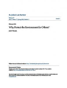 Why Protect the Environment for Others?