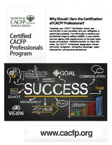 Why Should I Earn the Certification of CACFP Professional?