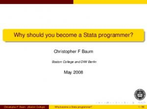 Why should you become a Stata programmer?