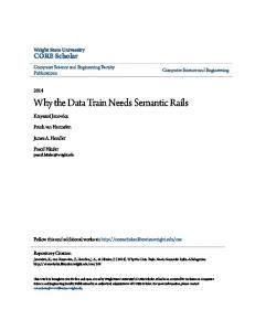 Why the Data Train Needs Semantic Rails
