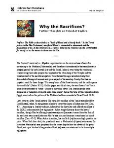 Why the Sacrifices? Further Thoughts on Parashat Vayikra