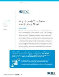 Why Upgrade Your Server Infrastructure Now?