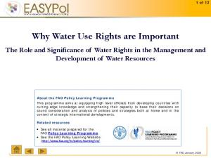 Why Water Use Rights are Important