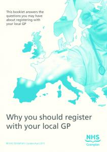 Why you should register with your local GP