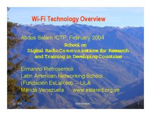 Wi-Fi Technology Overview