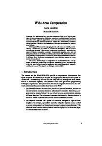 Wide Area Computation