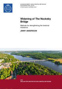 Widening of The Nockeby Bridge