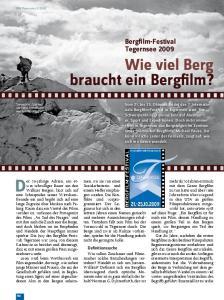 Wie viel Berg braucht ein Bergfilm?