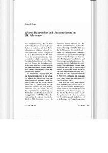Wiener Handwerker und Antisemitismus Im 19. Jahrhundert
