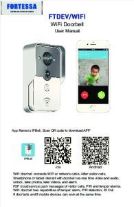 WiFi Doorbell. User Manual. ios
