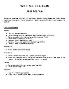 WiFi RGB LED Bulb User Manual