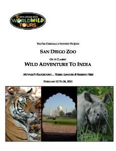 WILD ADVENTURE TO INDIA