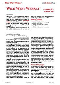 WILD WEST WEEKLY - Ausgabe Januar 2007