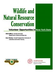 Wildlife and Natural Resource Conservation