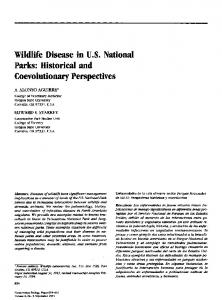 Wildlife Disease in U.S. National Parks: Historical and Coevolutionary Perspectives
