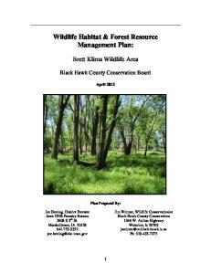 Wildlife Habitat & Forest Resource Management Plan: