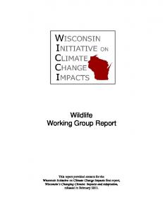 Wildlife Working Group Report