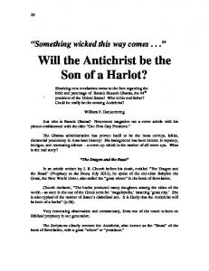 Will the Antichrist be the Son of a Harlot?