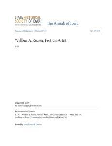Willbur A. Reaser, Portrait Artist