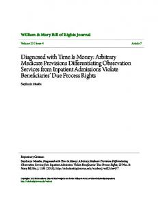 William & Mary Bill of Rights Journal. Stephanie Masaba. Volume 23 Issue 4 Article 7