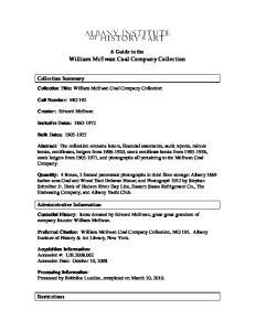 William McEwan Coal Company Collection