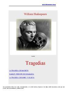 William Shakespeare. Hamlet. Tragedias