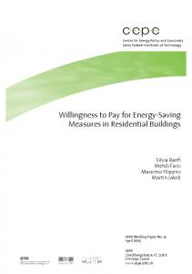 Willingness to Pay for Energy-Saving Measures in Residential Buildings