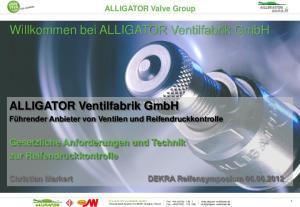 Willkommen bei ALLIGATOR Ventilfabrik GmbH