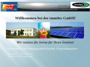Willkommen bei der immitec GmbH!